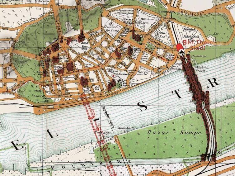 Plan Miasta Torunia z 1916r.