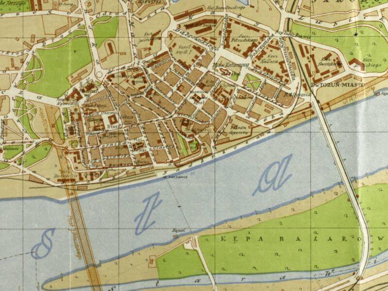 Plan Miasta Torunia z 1934r.