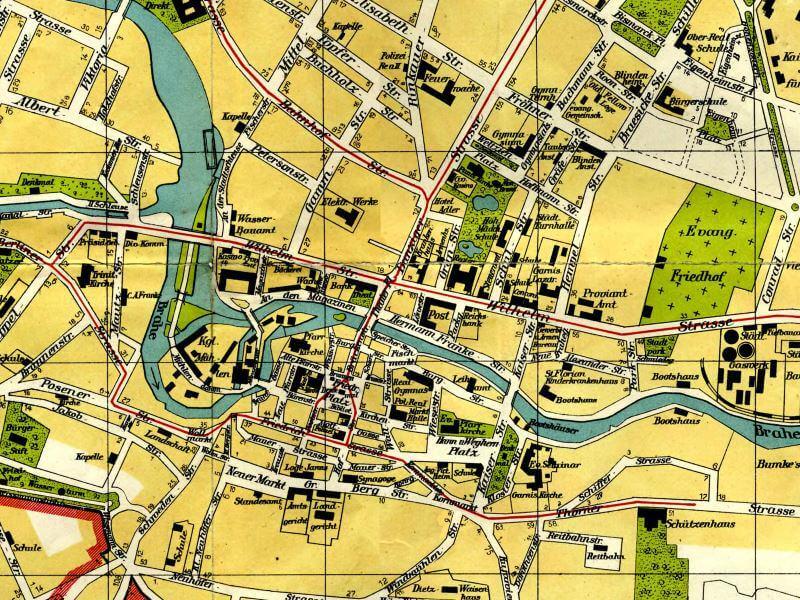 Plan Miasta Bydgoszczy z 1914r.