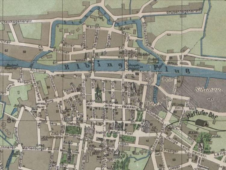 Plan Miasta Elbląga z 1907r.