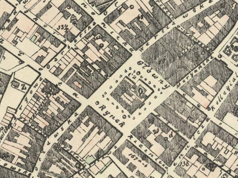 Plan Miasta Kalisza z 1878r.