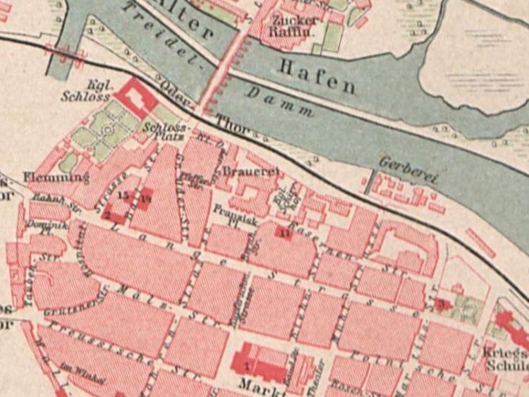 Plan Miasta Głogowa z 1892r.