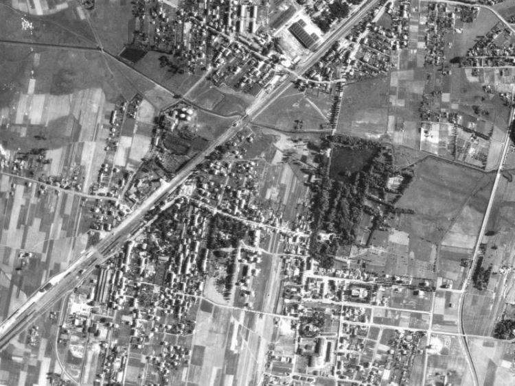 Zdjęcie lotnicze Pruszkowa z 1944r.