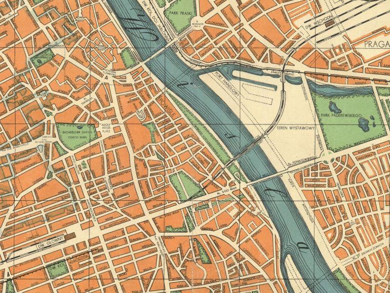 Plan Miasta Warszawy z 1941r.