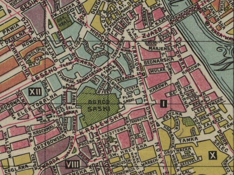 Plan Miasta Warszawy z 1904r.