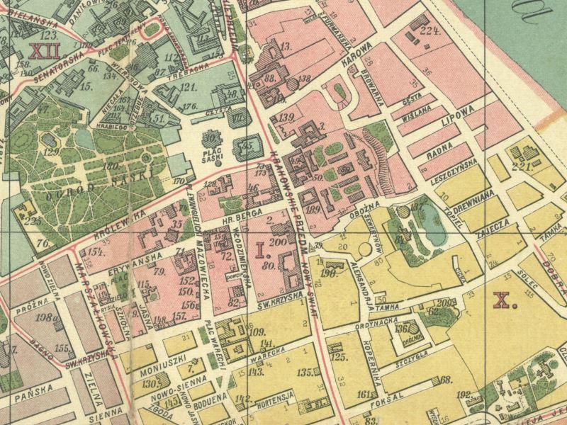 Plan Miasta Warszawy z 1909r.