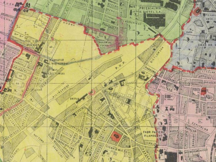 Plan Miasta Sosnowca z 1936r.