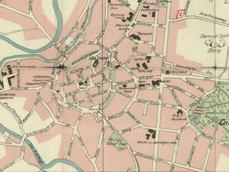 Plan Miasta Jeleniej Góry z 1935r.