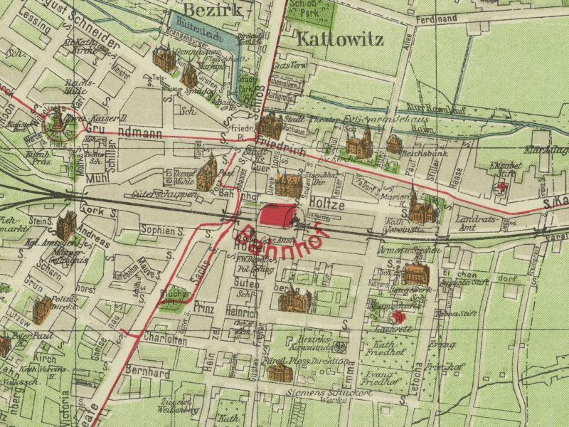 Plan Miasta Katowic z 1909r.