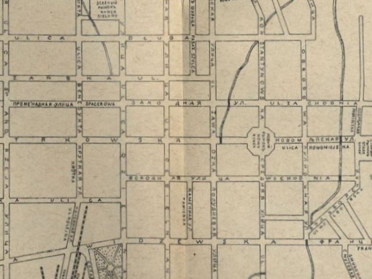 Plan Miasta Łodzi 1897r.