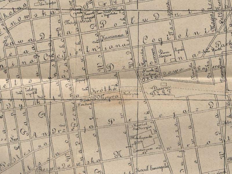 Plan Miasta Łodzi z 1912r.