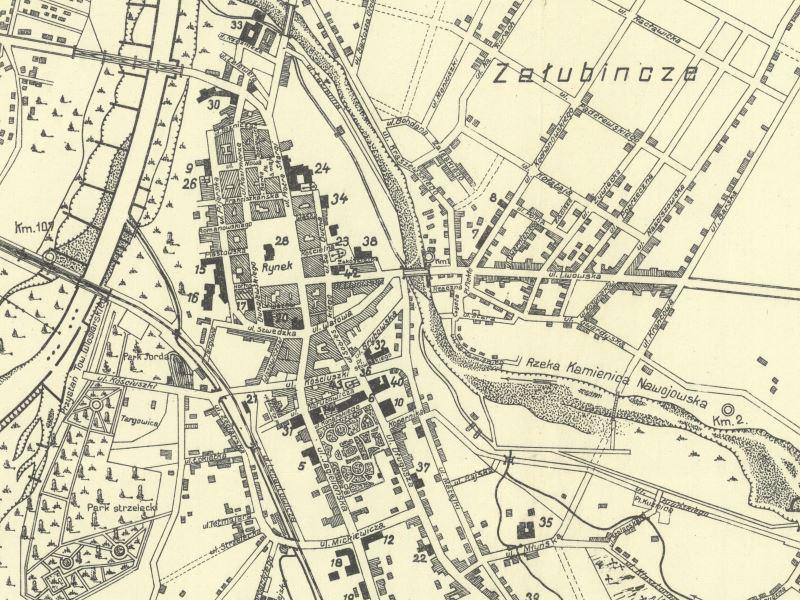 Plan Nowego Sącza z 1930r.