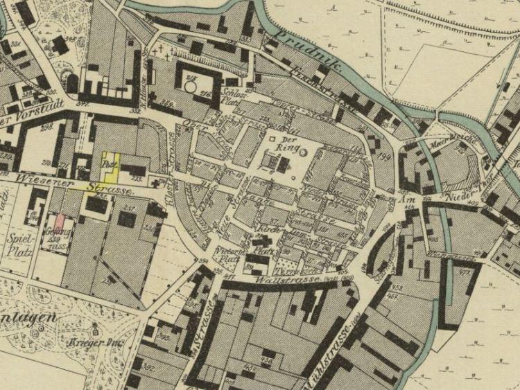 Plan Miasta Prudnika z 1890r.