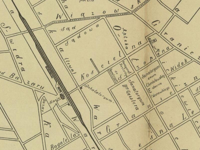 Plan Sytuacyjny Otwocka z 1906r.