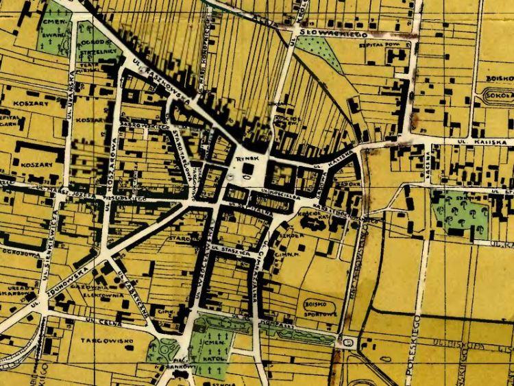 Plan Miasta Ostrowa Wielkopolskiego z 1936r.