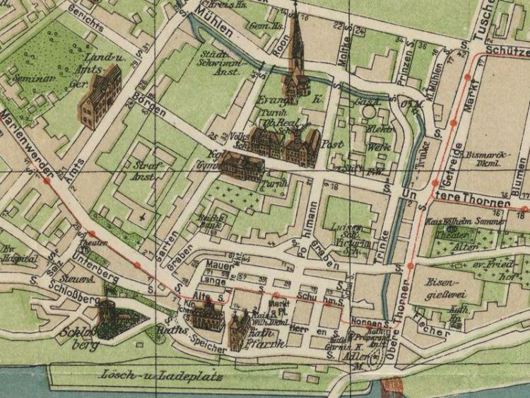 Plan Miasta Grudziądza z 1910r.