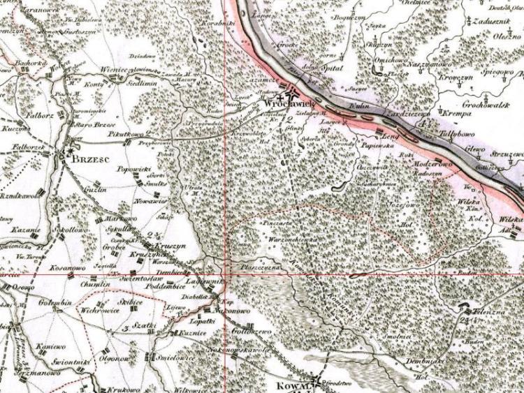 Mapa Włocławka z 1803r.
