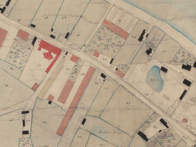 Mapa Folwarku Zazamcze z 1837r.