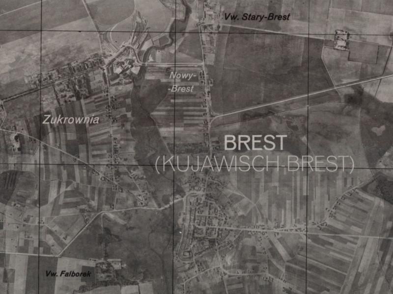 Fotomapa Brześcia Kuj. z 1941r.