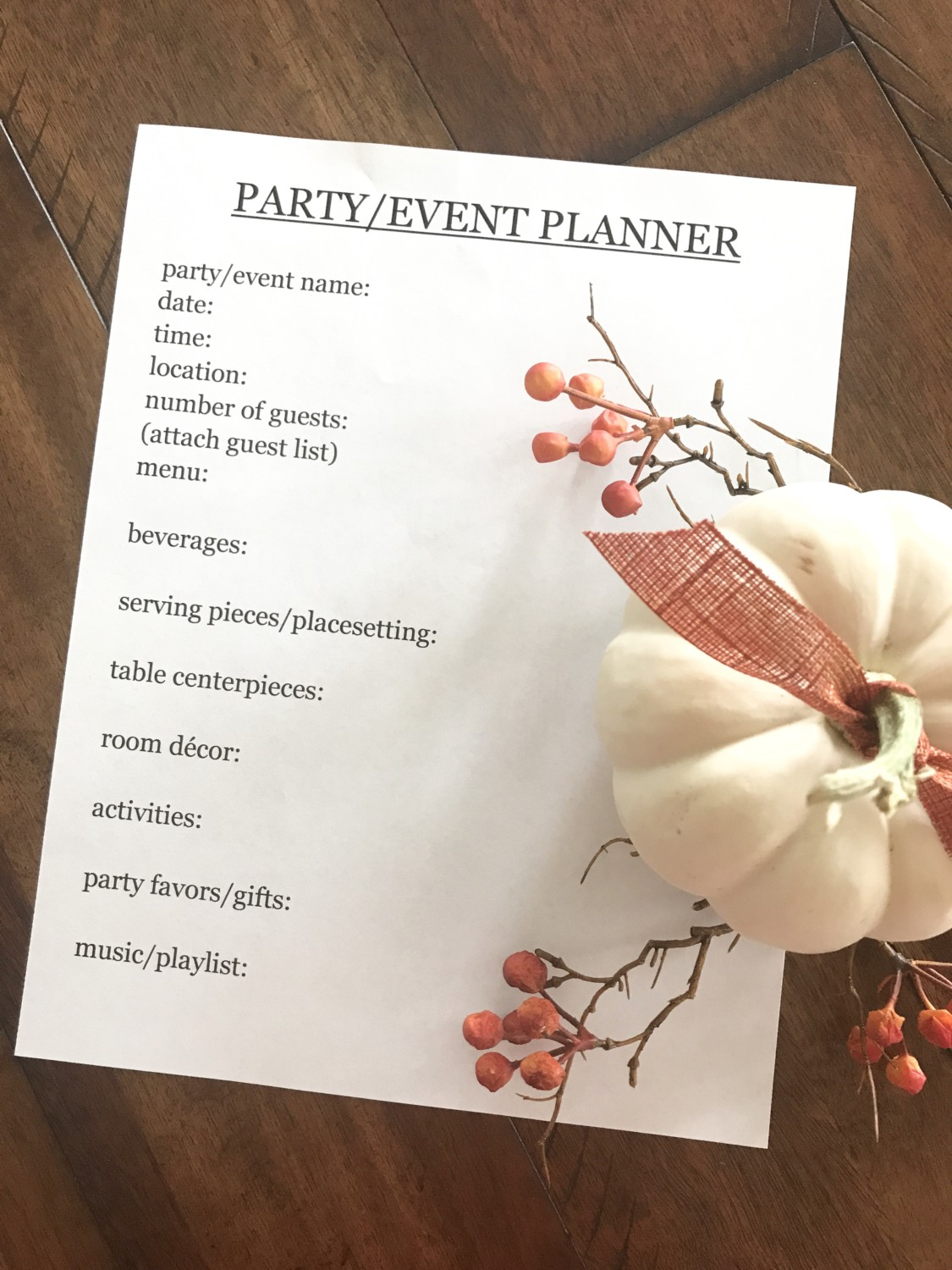 Tips For Planning A Party And A Printable