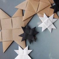 Hvordan fletter man flade julestjerner ud af flettestrimler?