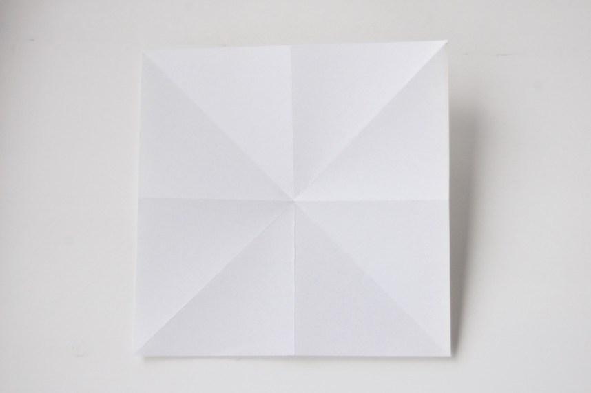 DIY Papirdiamant sådan skal folderne se ud