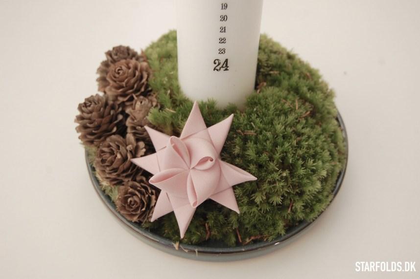 DIY Kalenderlys dekoration med flette stjerne