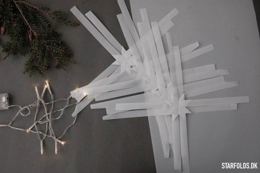 DIY Flette stjerner som lysguirlande - flet det antal stjerner som svarer til antallet af LED pærer