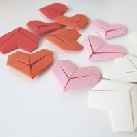 Valentines hjerter i papir