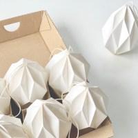 Påskepynt - Påskeæg foldet i papir