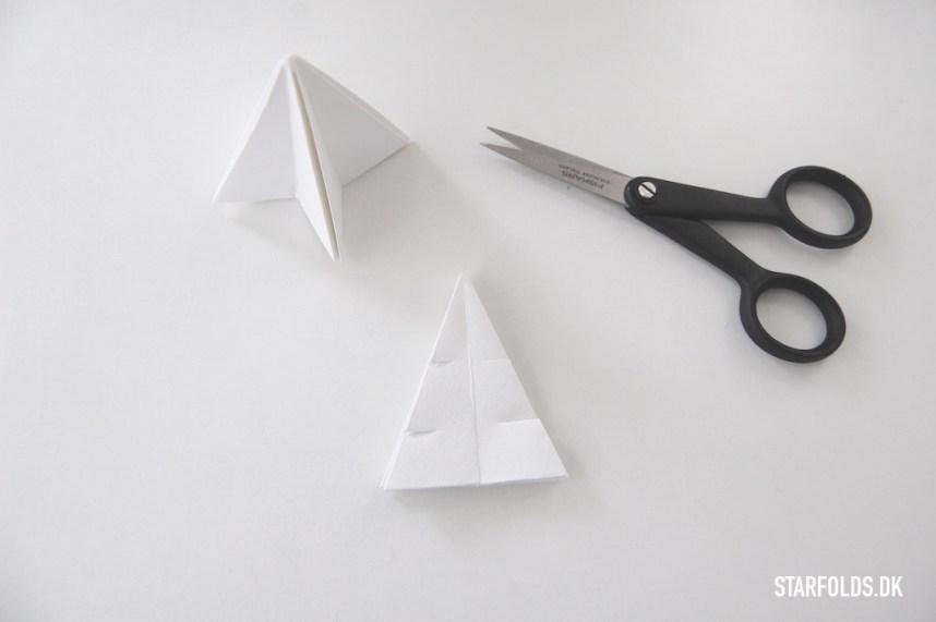 DIY Juletræer fold efter trin 4