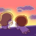 受保護的內容: Little Twin Stars Wallpaper 2016 十月桌布 日本官方Twitter票選夕霞西染版