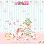 受保護的內容: Little Twin Stars Wallpaper 2011 二月桌布 日本 SanrioBB Present