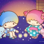 Little Twin Stars Wallpaper 2019 八月桌布 日本官方Twitter夏夜版