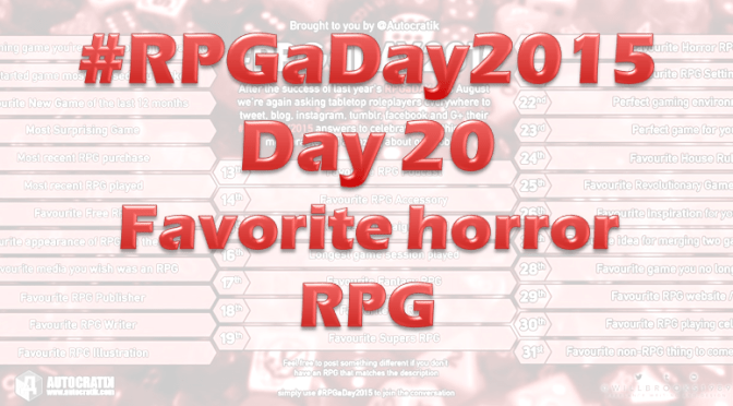 RPG a Day 2015 Challenge – Day 20