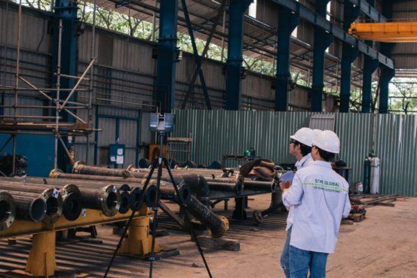 Đội ngũ kỹ thuật STAR GLOBAL tiến hành khảo sát sơ bộ và lên kế hoạch bố trí điểm quét cho dự án