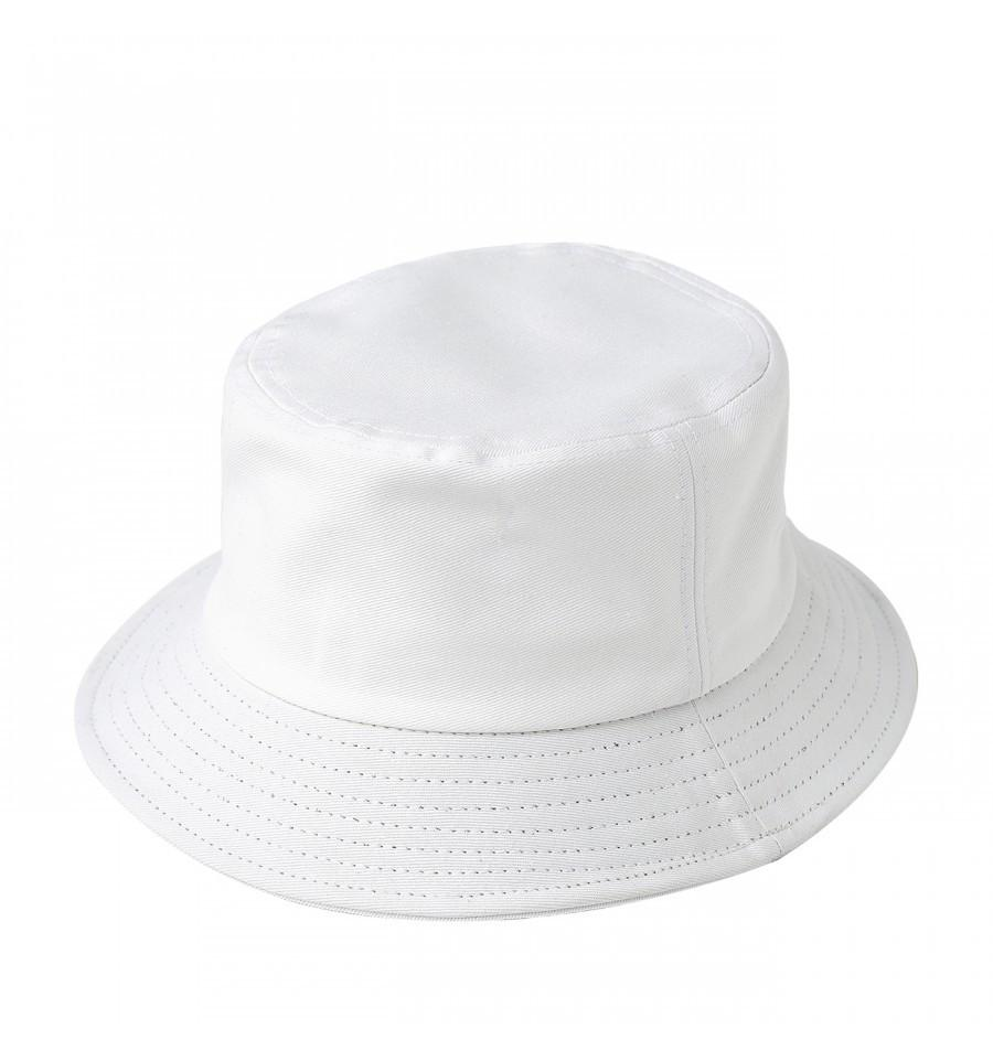 Custom Bucket Hat (Embroidered with Logo) - White - AF5202