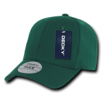 Custom Baseball Flex Hats (Embroidered with Logo) - Forest - Decky 1016W