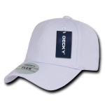 Custom Baseball Flex Hats (Embroidered with Logo) - Ghost White - Decky 1016W