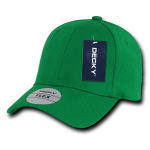 Custom Baseball Flex Hats (Embroidered with Logo) - Kelly - Decky 1016W