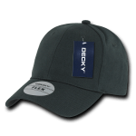 Custom Baseball Flex Hats (Embroidered with Logo) - Light Black - Decky 1016W