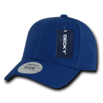 Custom Baseball Flex Hats (Embroidered with Logo) - Royal - Decky 1016W