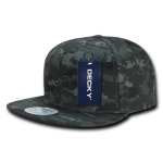 Custom Digital Camo Snapback Flat Bill Hat (Embroidered with Logo) - NTG Camo - Decky 1047