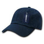 Custom Washed Polo Flex Dad Hat (Embroidered with Logo) - Navy - Decky 114