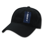 Custom Relaxed Classic Dad Hat (Embroidered with Logo) - Black - Decky 205