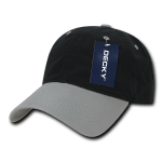 Custom Relaxed Classic Dad Hat (Embroidered with Logo) - Black/Light Grey - Decky 205