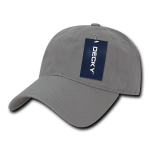 Custom Relaxed Classic Dad Hat (Embroidered with Logo) - Grey - Decky 205