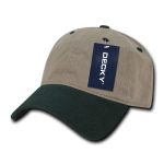 Custom Relaxed Classic Dad Hat (Embroidered with Logo) - Khaki/Forest - Decky 205