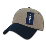 Custom Relaxed Classic Dad Hat (Embroidered with Logo) - Khaki/Navy - Decky 205
