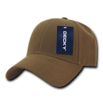 Custom Low Crown Structured Baseball Hat (Embroidered with Logo) - Coyote - Decky 206
